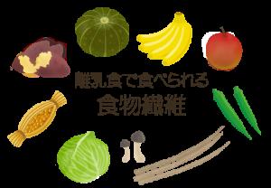離乳食で食べられる食物繊維