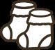 新生児の靴下