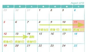 帝王切開カレンダー