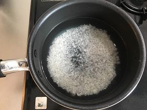 浸水した米